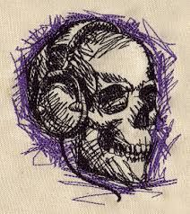 embroidery skull - Google Search