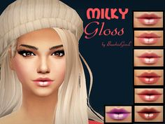 The Sims Resource: Milky Gloss by Baarbiie-GiirL • Sims 4 Downloads