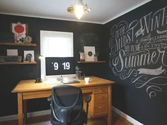23 Inspiring Home Offices - 2014 Edition You can write on the Walls :-0