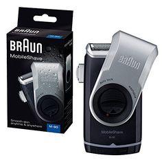 Braun M90 Washable Portable Travel Smart Foil Mens Battery Shaver - Black