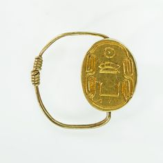"Scarab Finger Ring of Senwosret III Period: Middle Kingdom Dynasty: Dynasty Reign: reign of Senwosret III Date: ca. Geography: From Egypt, Memphite Region, Dahshur, de Morgan excavations, Medium: gold ""kha ka ra"" Jewelry Art, Antique Jewelry, Jewellery, Red Pyramid, Ancient Artefacts, Ancient Egyptian Jewelry, Gold Purchase, Egypt Art, Ancient History"