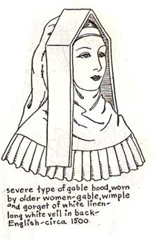Queen Anne Boleyn Reproduction French Hood Hat for