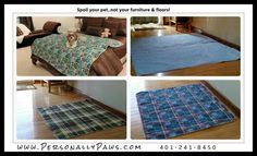 Want more than just puppy pads?Washable quilted leakproof pet pads for house training, travel, whelping, senior pet care and furniture & floor protection. Machine wash/dry! Wide variety of sizes and styles available. 48x48 & 60x60 shown here Http://www.personallypaws.com
