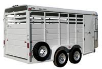 Dual Purpose Small Stock Trailer Aluminum Removable Top Stock Trailer Aluminum Trailer Livestock Trailers
