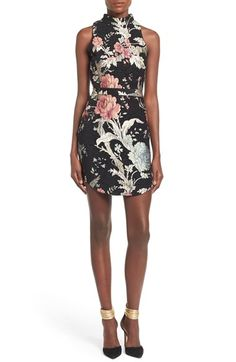 Missguided Floral Tapestry High Neck Dress available at #Nordstrom