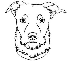 The mark consists of a black dog with a distinguished look on his face and a collar.