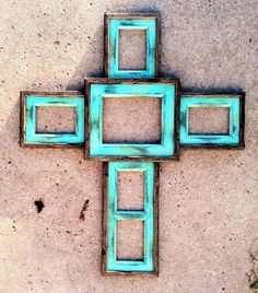 Like the bright blue! Large cross frame www.greystoneimages.com