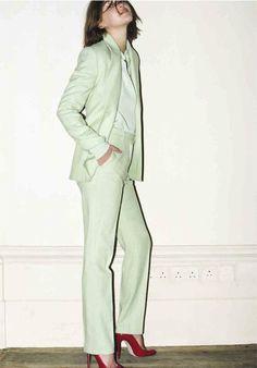 Pastel Mint Suit and Romantic shoes : You betcha! :: Trager Delaney 2013