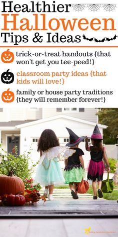 """Celebrate Halloween and keep your """"crunchy momma"""" status with these super fun, {not lame}healthy Halloween tips and ideas for home and school!"""