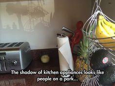 Kitchen Appliances' Intriguing Shadow