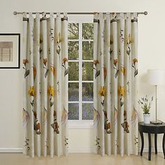 (One Pair) Country Floral Print Eco-friendly Curtain  – USD $ 39.99