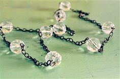 a fun, long necklace by Lemon Kissed. measures about 26.5 inches and is great for #layering