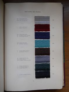 The Dyeing of Half-Wool with the Colours of the Bayer Company Limited (1911) by Bayer Company, Inc. #dyesamples #skirtborders