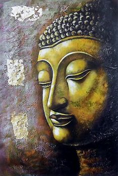 """""""Ignorance reveals our humanity, love announces our divinity."""" ~ Matshona Dhliwayo Art by: Dolls of India Title: The Face of Buddha ♥ lis Baby Buddha, Buddha Face, Buddha Zen, Gautama Buddha, Buddha Wall Art, Buddha Painting, Art Prints Online, Selling Paintings, Mystique"""