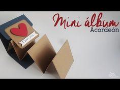 TUTORIAL SCRAPBOOKING ESPAÑOL. Mini álbum acordeon y bolsillos - YouTube