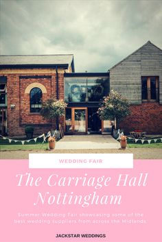 We're heading to The Carriage Hall in Nottingham for their Wedding Fair this November (2017)  Read an insight into what to expect and book your tickets. http://www.jackstarweddings.co.uk/carriage-hall-wedding-fair/