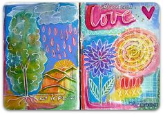 Why I keep an art journal | Creative Kismet : I thought about all the other journals I have filled and started thinking about why I paint in them and thought I'd share.