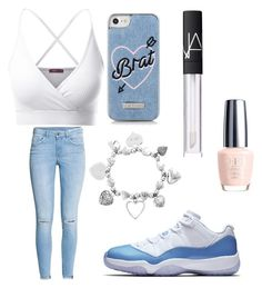 """""""Untitled #56"""" by cravekiah ❤ liked on Polyvore featuring Doublju, H&M, NIKE, Skinnydip, ChloBo and NARS Cosmetics"""