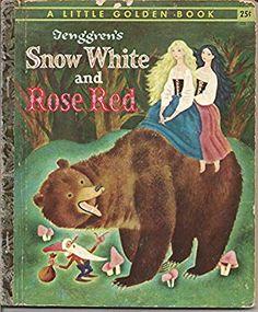 ''Blanche Neige et Rouge Rose'' (Snow White and Rose Red) illus. Disney, Little Golden Books, Vintage Children's Books, Vintage Posters, Retro Vintage, Collages, Children's Book Illustration, Richard Scarry, Childhood Memories