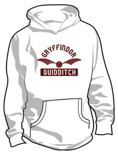 Amazon.com: Harry Potter: Gryffindor Quidditch Hooded Sweatshirt: Clothing