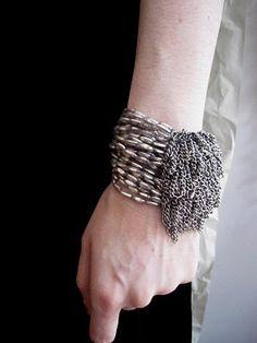 Jean Francois Mimilla antique glass bead bracelet from shopworthwhile.blogspot
