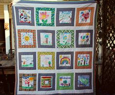 Quilting Class Ideas : Classroom Quilt Ideas on Pinterest Memory Quilts, 50th Anniversary Gifts and Hand Prints