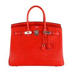 1stdibs - ON FIRE! NEW COLOR HERMES BIRKIN BAG 35cm CROCODILE MATTE RED explore items from 1,700  global dealers at 1stdibs.com