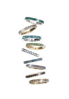 """Oprah's Favorite Things 2015    """"Available in all birthstones, these sparkly stacking rings (set in brass- or rhodium-plated metal) are fashion-forward, meaningful and astonishingly affordable."""" —Oprah"""