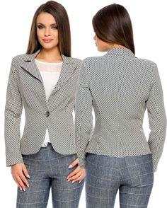 Sacou Look Bicolor Costume, Blazer, Jackets, Tops, Women, Fashion, Down Jackets, Moda, Fashion Styles