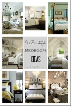 8 Beautiful Bedroom Ideas from Setting for Four. #decor #bedroom