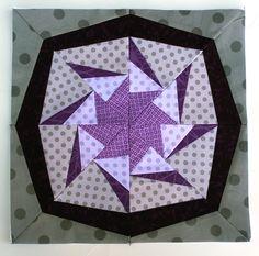 paper pieced quilt blocks free patterns | star quilt block | Wombat Quilts