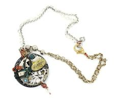 Steampunk Assemblage Necklace  Blue Bird Dreams by InVintageHeaven, $94.00