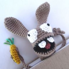 Amigurumi Bunny Bookmark Crochet Pattern                                                                                                                                                     More