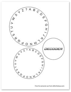 picture relating to Printable Decoder Wheel titled Code Game for Children: Create a Spy Decoder Frugal Entertaining for