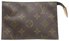 Get the trendiest Clutch of the season! The Louis Vuitton Toiletry Pouch Poche Monogram 15 Toilette 868037 Brown Coated Canvas Clutch is a top 10 member favorite on Tradesy. Louis Vuitton Clutch, Louis Vuitton Monogram, Brown Fashion, Vintage Louis Vuitton, Flaws, Pouch, Pattern, Sachets, Patterns