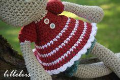 MUSTER Frillypants Häschen häkeln amigurumi Spielzeug von lilleliis