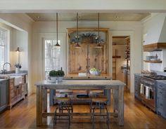 cuisine gris et bois en 50 modles varis pour tous les gots - Cuisine Classique En Bois Massif