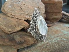 Anel de prata com madrepérola, anel indiano (6)