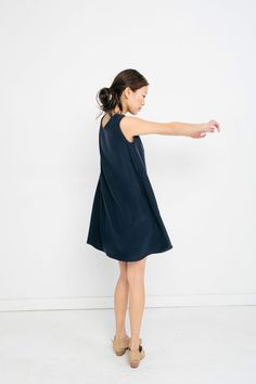 Marlena Dress in Silk Crepe // inspiration for Swing Dress by Papercut Patterns