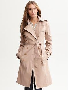Classic belted trench | Banana Republic  I may or may not have spent a ridiculous amount of money on this coat today.