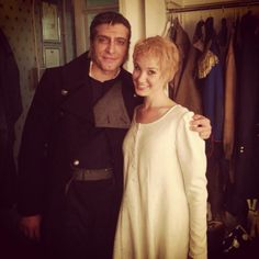 Tam Mutu as Javert and Sierra Boggess as Fantine in Les Misérables West End