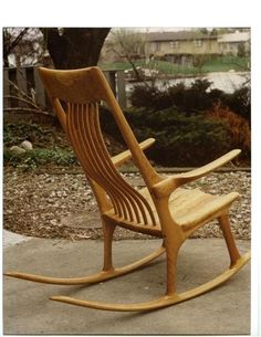 Cherry Rocking Chair by Brewer Custom Cabinetry