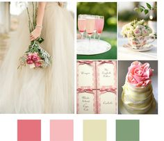 pink English garden wedding