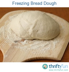 This is a guide about freezing bread dough. To save time, bread dough can be made in advance and frozen to use later.