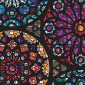 Stained Glass Rose Windows-The fabric that made me stop in my Googling tracks!  Love Medieval & stained glass~in fabric-WOW !