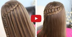 Cute Girls Hairstyles help us to master two styles, the feather waterfall braid and a ladder braid combo, that both look far more challenging than they really are.