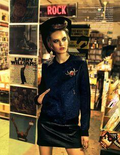 Billard Electrique: Yulia Musieichuk is Rocker Chic for Schon by Nikolay Biryukov,  Styled by Stella Arion,  Make Up by Marina Keri, Hair by Mark Daniel Bailey #Fashion #Editorial #Moda #Inspiration
