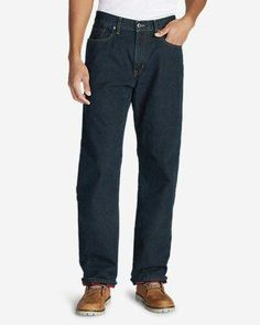 f713b738e63163 Men s Flannel-Lined Jeans - Relaxed Fit Heritage color