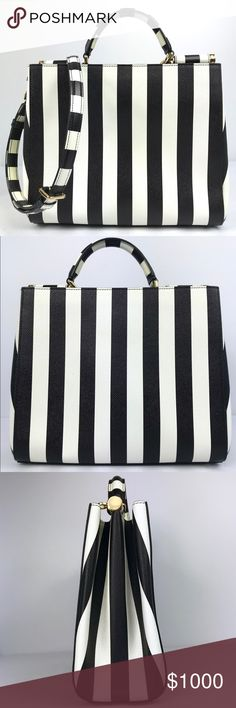 I just added this listing on Poshmark  Dolce   Gabbana Black White Stripe  Sicily Bag Tote. 872fd9253b