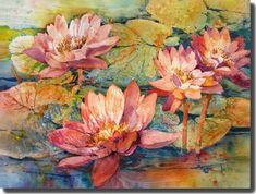 """Water Lilies"" - by Rose Edin (Gallery)"